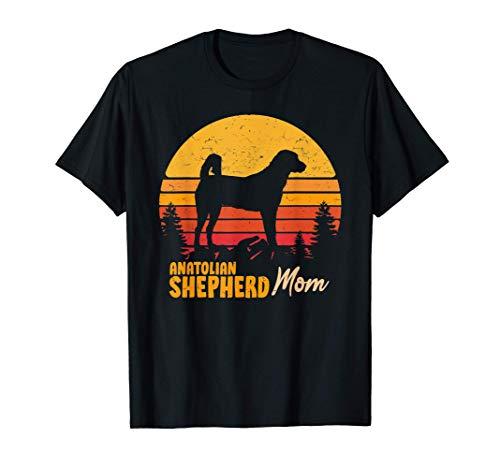 Anatolian Shepherd Mom Mama Vintage Retro Dog Women Gift T-Shirt