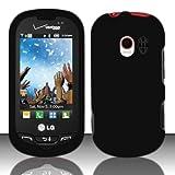 lg vn271 case - Importer520 Rubberized Snap-On Hard Skin Protector Case Cover for for (Verizon) LG Extrovert VN271 - Black