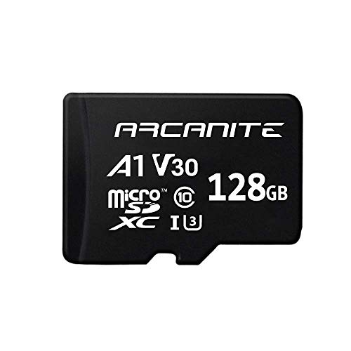 ARCANITE - Tarjeta de memoria microSDXC de 128 GB con adaptador SD, UHS-I U3, A1, V30, 4K, Clase 10, Micro SD, Velocidad de lectura de hasta 90 MB/s.