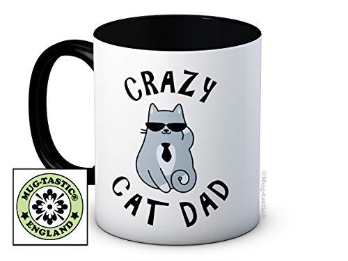 mug-tastic Crazy Cat Dad - Caffè di Ceramica di Alta qualità Tazza