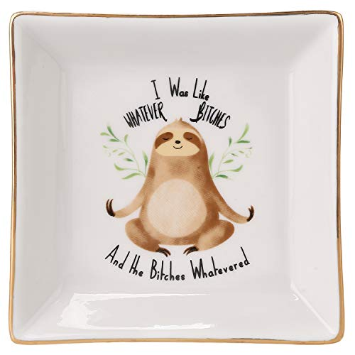 Sloth Ring Dish Holder Trinket Tray Friend Funny Gifts for Her Women