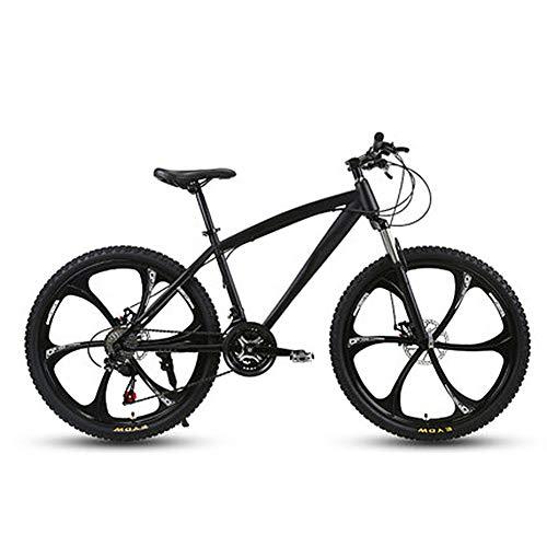 D&XQX Fahrrad Mountainbike für Erwachsene Person, Hohe Kohlenstoffstahl und Aluminium Rahmen, Doppelscheibenbremse, PVC und Alles Aluminium Pedale 26 Zoll,27 Speed