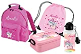 Mein Zwergenland Set 5 Kindergartenrucksack Classic und Brotdose Lunchbox Maxi, Turnbeutel +...