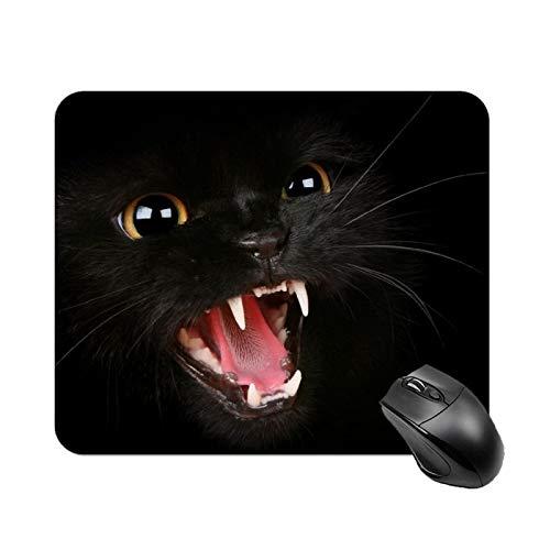 Gaming Mauspad, Rutschfester Gummibasis, Gaming und Office Mauspad für Laptop, Computer & PC (Katze-2)