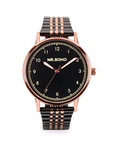 Reloj MR BOHO 00728959 36 MM Acero Negro Y Rosado