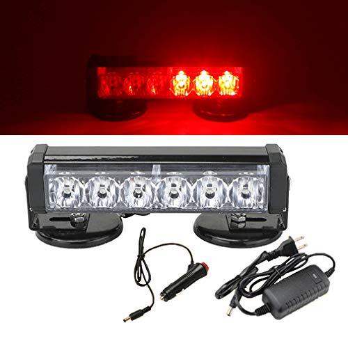 JUEJIDP 6 Luces estroboscópicas LED Luces de Advertencia de Peligro Luces Intermitentes de Emergencia a Prueba de Agua, con Base magnética para Remolque de camión de vehículo de automóvil,Rojo