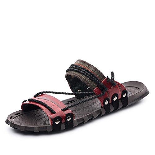 Sandalias de senderismo Tanto hombres como mujeres pueden vestir zapatillas de verano Múltiples colores Gran Tamaño tirón Fracasos de tirón de la playa casual cubierta exterior Flops adecuado for los