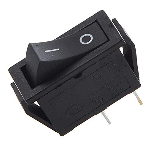 HUANHUAN Huan Store 2pcs X ON-Off 2 Posición SPST 2 Pin Snap in Rocker Interruptor 1 6A / 250V 20A / 125V AC (Color : Black, Voltage : Other)