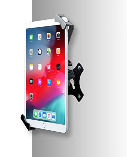 CTA Digital: Compact Security Wall Mount for 7-14 Inch Tablets, Including iPad 10.2-inch (7th & 8th Generation), iPad Air 3 & 4, iPad Mini, 12.9-Inch iPad Pro, 11-Inch iPad Pro & More, Black