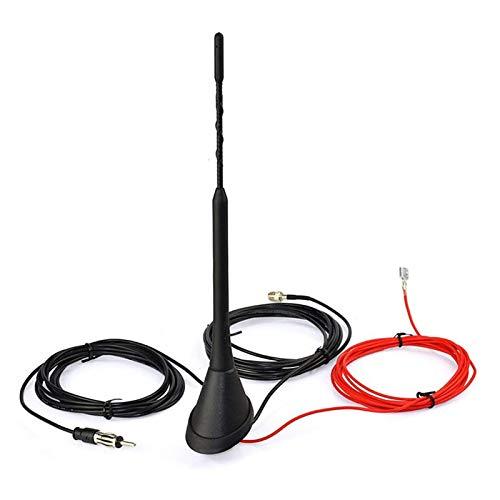FENGFENG Sun Can Conjunto de Antena de automóvil Splitter Amplificado de Radio Am FM Radio Antena Kit de Antena Amplificada Activa Dab + FM Radio Antena Mástil Mast (Color : Black)