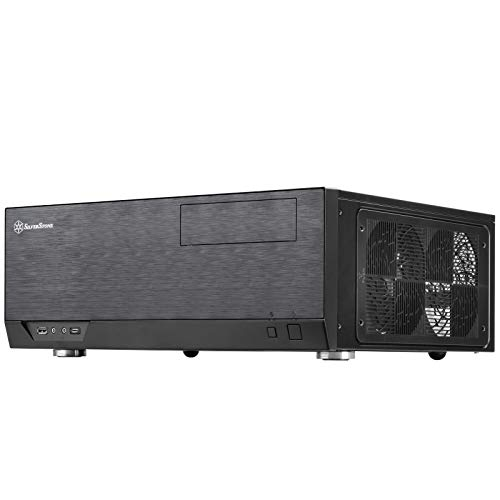 SilverStone Technology Home Theater Computer Case (HTPC) with Faux Aluminum Design for ATX/Micro-ATX Motherboards and New USB Type C Front Port (GD09B-C)