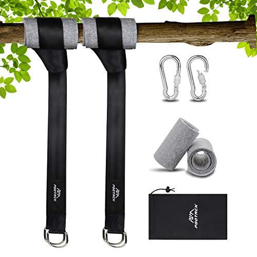 Baum Swing Hanging Gurt Kit Hängematte Befestigung, Baumschutz Polster, Schaukel Befestigung mit 2 Schwerlast Karabinern und Ringen,hält bis zu 500 kg mit Aufbewahrungstasche