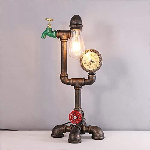 Mode Individualiteit Creatieve Waterpijp Bureaulamp loft Industriële Stijl Smeedijzeren tafellamp voor Loft Decoratie Woonkamer Slaapkamer