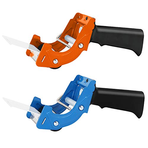 New Improved Design, Packaging Tape Dispenser with Quick Load Feature. Commercial Grade Tape Gun for Tapes Up to 3 Inch Wide. Industrial Durability. Perfect for Sealing Ship, Move, Storage Boxes. (2)