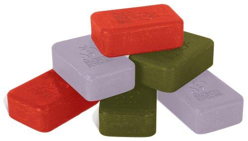 Esschert Design Seifenblock, exklusive Seife mit schöner Gravur, 1 Stück, sortiert