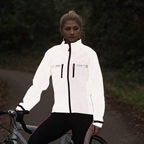 Proviz Women's Reflective Cycling Jacket-Silver, Size 10