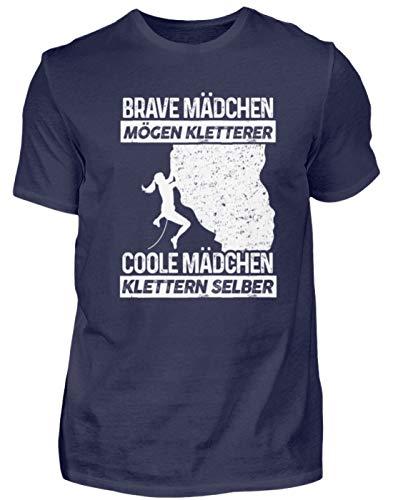 Klettern: Coole Mädchen Klettern - Herren Shirt -4XL-Dunkel-Blau