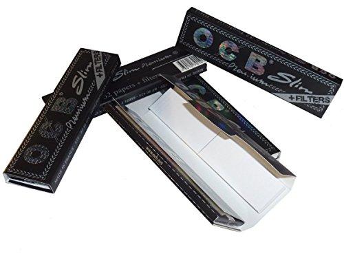 OCB Premium Slim - Lote de 10 sobres de papel de fumar con filtro