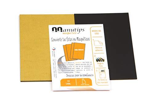 Aiman GZ - 10 manes flexible 55 g/cm2 con adhesivo premium. MANUTIPS rectángular 100 X 150 mm