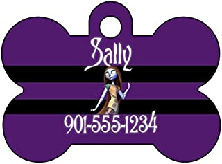 uDesignUSA Disney Nightmare Before Christmas Sally Dog Tag Pet Id Tag Personalized w/Name & Number