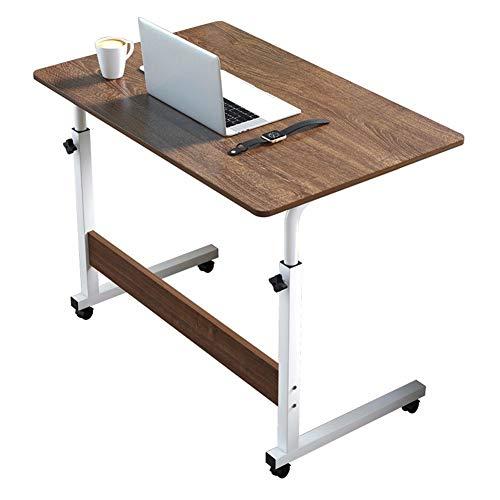 Escritorio portátil para computadora portátil, 60 * 40cm-80 * 40cm Escritorio para computadora con Ruedas Mesa Auxiliar portátil, Soporte para computadora portátil Ajustable B-60X40