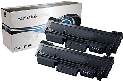 2 Toner Alphaink Compatibile con Samsung D116L versione da 3000 copie per stampanti Samsung SL-M2620 2625 2626 2820DW 2826 2875FW Xpress M2620 2625 2820 2870 2875 2876 2885