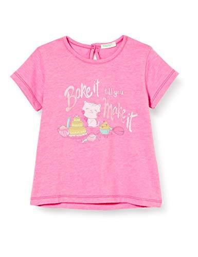 UNITED COLORS OF BENETTON T- Shirt Pull sans Manche, Rose (Sugar Plum 40j), 74 Bébé Fille