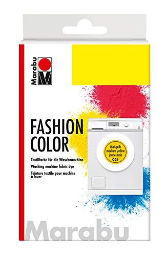 Marabu 17400023021 - Fashion Color maisgelb, Textilfarbe zum Färben in der Waschmaschine, kochecht, für Baumwolle, Leinen und Mischgewebe, 30 g Farbstoff und 60 g Reaktionsmittel