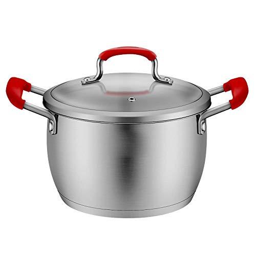 LIZANAN Cocina Regalo del día de la Sopa de Olla de cazuela de Acero Inoxidable Olla de Sopa Olla Olla de Cocina de inducción Crisol de guisado de la Sopa de Regalo Olla a 20cm Madre Olla