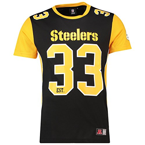Majestic T-Shirt NFL Pittsburgh Steelers Dene Poly Mesh Noir/Jaune Taille: S (Small)