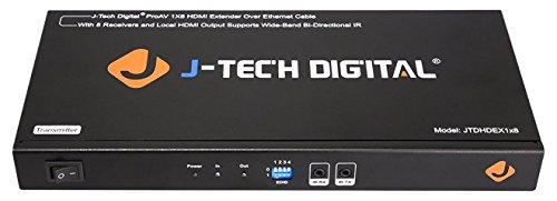 J-Tech Digital JTDHDEX1x8 ProAV Premium Quality 1X8 HDMI Extender/HDMI Amplifier/HDMI Splitter Over Ethernet Cable