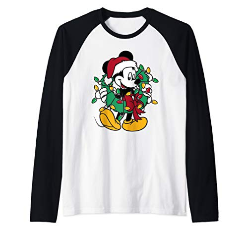 Disney Mickey Mouse Lights Raglan Baseball Tee