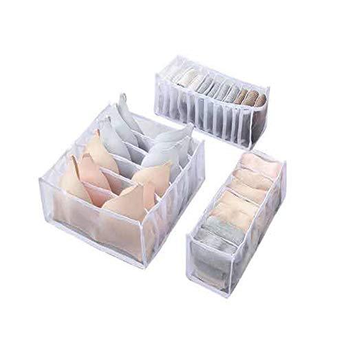#N/V Organizador de sujetador organizador de dormitorio para calcetines, ropa interior separada de almacenamiento plegable cajón organizador