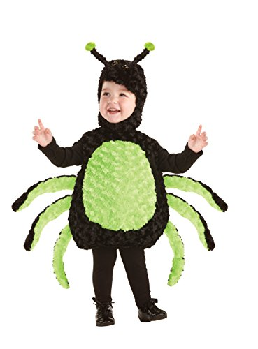 UNDERWRAPS Kids' Toddler Baby's Spider Belly, Black/Green, Large (2-4T)
