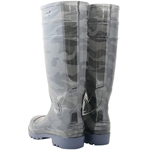 『ワークスタイルエース 先芯入り 耐油底安全長靴 迷彩グレー 26.5cm WS3200』の2枚目の画像