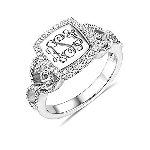 monogrammed ring - 3