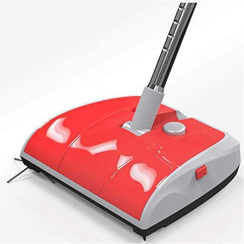 HNLSKJ Aspirador Escoba eléctrica de Dos Ruedas del Limpiador de Barrido Mano Fuerte Sweeper escobillas de vehículos de alfombras Aspirador (Color: Rojo) (Color: Rojo) ggsm (Color : Red)