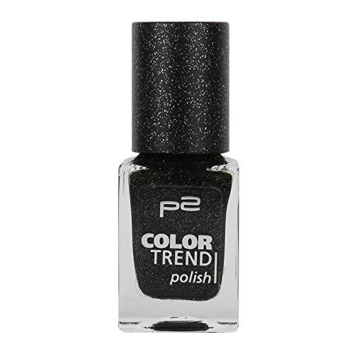 P2 Color Trend Nail Polish Nr. 080 black sand Inhalt: 10ml - Nagellack für tollen Sand-Effekt auf dem Nagel