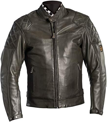 Helstons Scoty Motorrad Lederjacke Khaki M