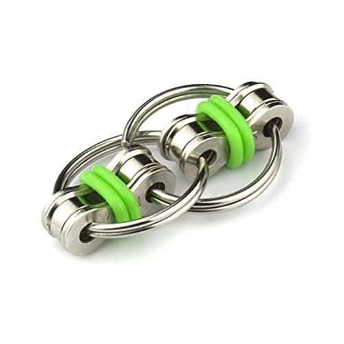 TOSSPER Dekomprimierung Schlüsselring Fidget Schlüsselanhänger Schnalle Spielzeug Metall Entlastet Druck Hand Spinner-Spielzeug