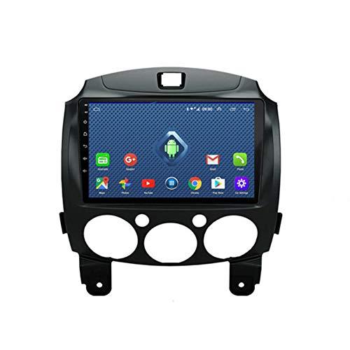 Android 9.1 8 Core 2.5D Pantalla Estéreo para automóvil Navegación por satélite Radio DVD Control del volante Reproductor de video Navegación GPS multimedia para Mazda 2 2007-201(Color:4G+WiFi 2G+32G)