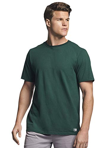 Russell Athletic Men's Performance Cotton Short Sleeve T-Shirt, Dark Green, XL