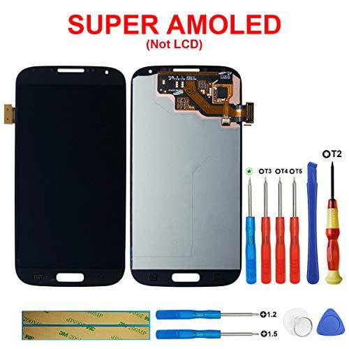 SWARK Super AMOLED Display Compatibile con Samsung I9500 Galaxy S4 (Nero Senza Telaio) Display LCD Touchscreen + Tools