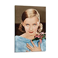 Greta Garbo グレタガルボ有名な美容スターアート写真セクシーポスター4 キャンバス アートパネル ポスター 壁アート モダン リビング ベッドルーム 部屋飾り 油彩画16x24inch(40x60cm)