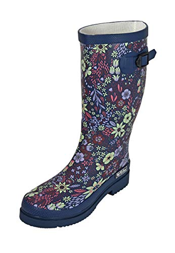MADSea Botas de agua para mujer, diseño de flores, color Multicolor, talla 42 EU