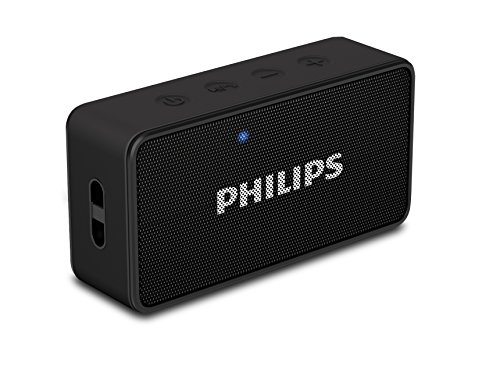 Philips BT60BK Bluetooth Wireless Portable Speaker (Black) with FM