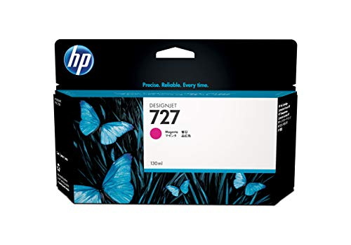 Original Tinte passend für HP DesignJet T 1500 ePrinter HP 727, 727M, 727MAGENTA, NO727, NO727M, NO727MAGENTA, Nr 727 B3P20A - Premium Drucker-Patrone - Magenta - 130 ml