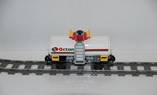 Gebrauchte Bausteine Ersatz für Lego System Lego 9V + RC Eisenbahn Train 7939 Waggon Tankwaggon OCTAN City Wagon KOMPATIBEL MIT Lego 9V + RC System