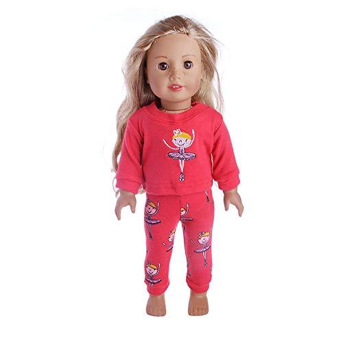 Zeagro Puppenkleidung, Puppenkleidung Kleid Outfit Kleidung Set für 18 Zoll American Girl Doll Geschenk (# 6)