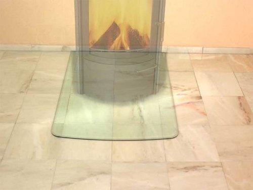 HARK Glasbodenplatte Segmentbogen 770 x 1030 x 8 mm klar Facettschliff
